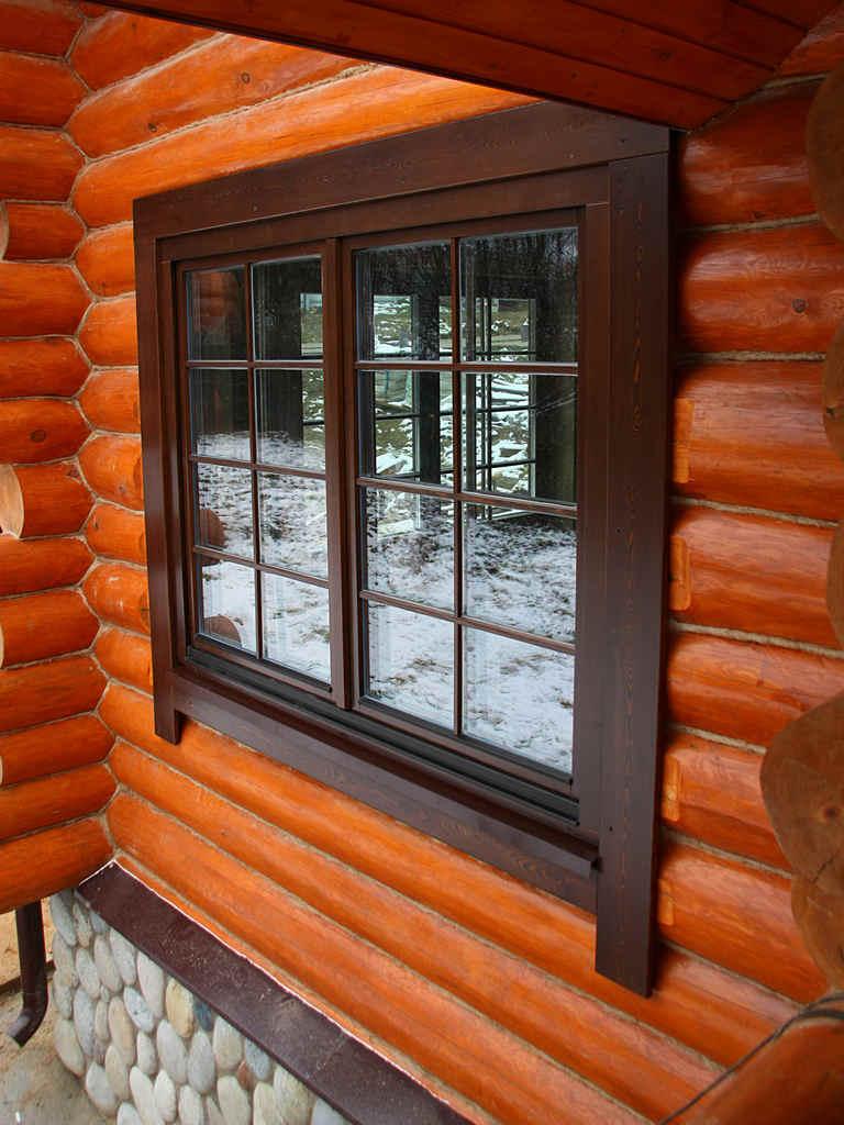 Отливы на окна деревянного дома
